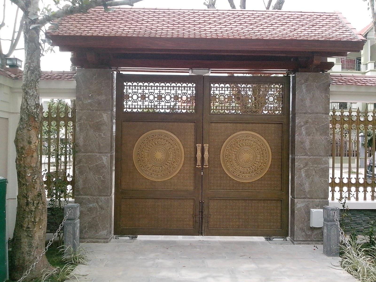 cổng tự động âm sàn Vũ Hoàng