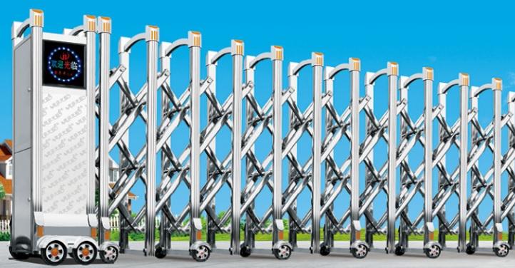 cổng xếp tự đông inox Vũ Hoàng