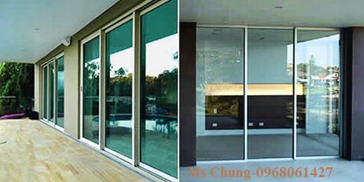 cửa trượt kính tự động mang lại sang trọng cho ngôi nhà