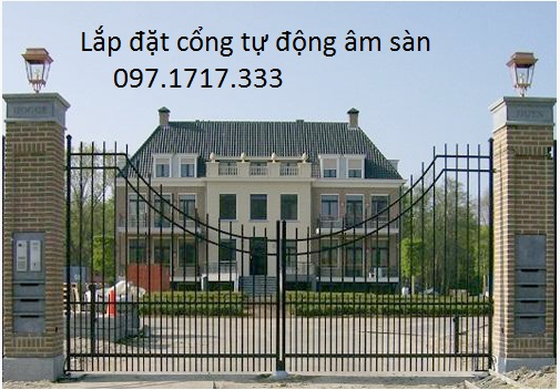 Nhà sang trọng với cổng tự động âm sàn