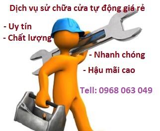 Sửa cửa trượt tự động giá rẻ HCM