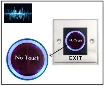 Nút nhấn Exit công nghệ hồng ngoại