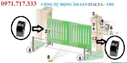 Cách lắp đặt cảm biến an toàn cổng tự động âm sàn