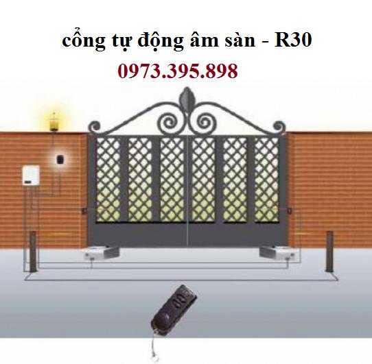 cổng tự động âm sàn R30