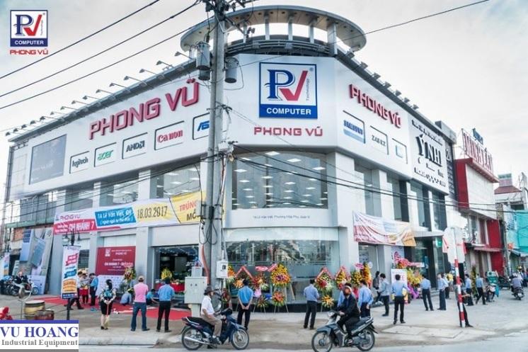 Cửa kính tự đóng mở | Công trình hoàn thành tại Phong Vũ